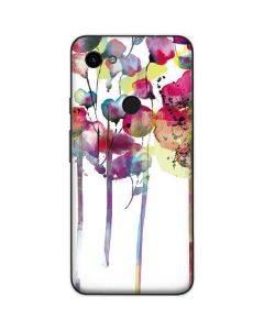 Painted Flowers Google Pixel 3a Skin