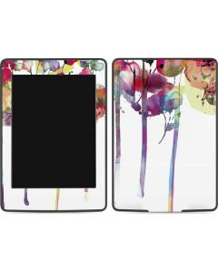 Painted Flowers Amazon Kindle Skin
