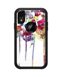 Painted Flowers Otterbox Defender iPhone Skin