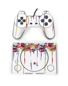 Painted Flowers PlayStation Classic Bundle Skin