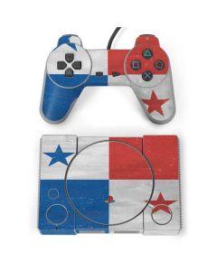 Panama Flag Distressed PlayStation Classic Bundle Skin