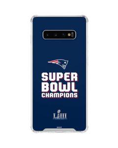 Patriots Super Bowl LIII Champions Galaxy S10 Plus Clear Case