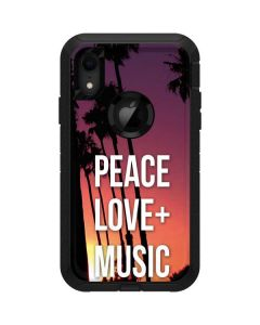 Peace Love And Music Otterbox Defender iPhone Skin