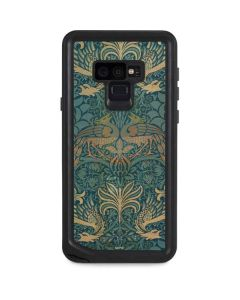 Peacock and Dragon Textile Design by William Morris Galaxy Note 9 Waterproof Case