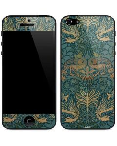 Peacock and Dragon Textile Design by William Morris iPhone 5/5s/SE Skin