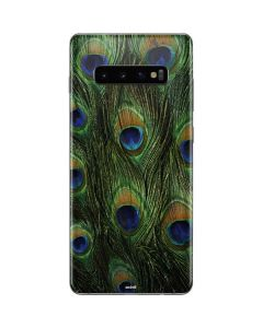 Peacock Galaxy S10 Plus Skin