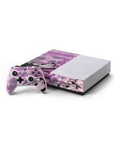 Pepe Le Pew Purple Romance Xbox One S Console and Controller Bundle Skin