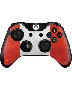 Peru Flag Distressed Xbox One Controller Skin