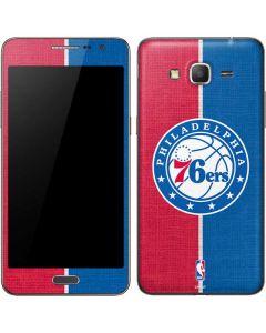 Philadelphia 76ers Canvas Split Galaxy Grand Prime Skin