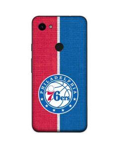 Philadelphia 76ers Canvas Split Google Pixel 3a Skin