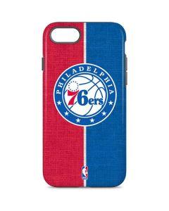 Philadelphia 76ers Canvas Split iPhone 8 Pro Case
