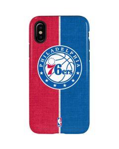 Philadelphia 76ers Canvas Split iPhone X Pro Case