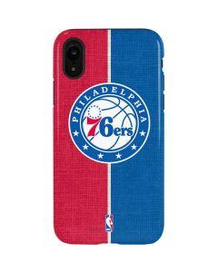 Philadelphia 76ers Canvas Split iPhone XR Pro Case