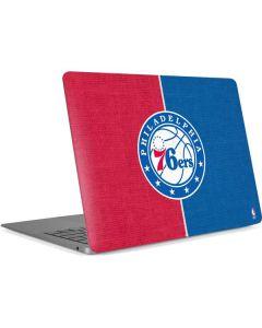 Philadelphia 76ers Canvas Split Apple MacBook Air Skin