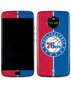Philadelphia 76ers Canvas Split Moto X4 Skin