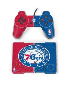 Philadelphia 76ers Canvas Split PlayStation Classic Bundle Skin