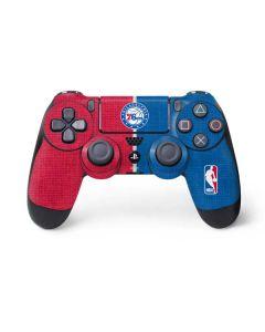 Philadelphia 76ers Canvas Split PS4 Controller Skin