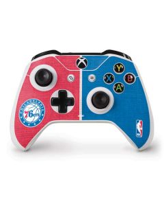 Philadelphia 76ers Canvas Split Xbox One S Controller Skin