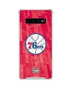 Philadelphia 76ers Hardwood Classics Galaxy S10 Clear Case
