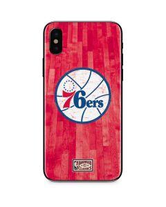 Philadelphia 76ers Hardwood Classics iPhone XS Max Skin