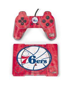 Philadelphia 76ers Hardwood Classics PlayStation Classic Bundle Skin