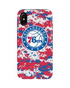 Philadelphia 76ers Red Digi Camo iPhone X Pro Case