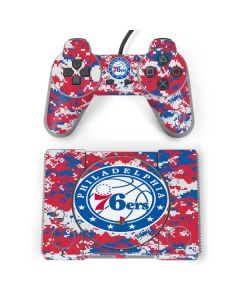 Philadelphia 76ers Red Digi Camo PlayStation Classic Bundle Skin