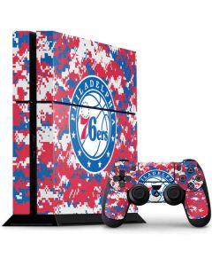 Philadelphia 76ers Red Digi Camo PS4 Console and Controller Bundle Skin