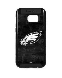 Philadelphia Eagles Black & White Galaxy S7 Edge Cargo Case