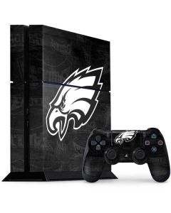Philadelphia Eagles Black & White PS4 Console and Controller Bundle Skin