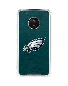 Philadelphia Eagles Distressed Moto G5 Plus Clear Case