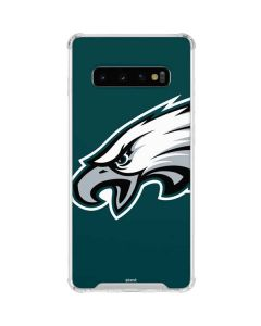 Philadelphia Eagles Large Logo Galaxy S10 Clear Case