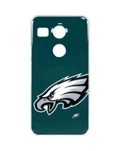 Philadelphia Eagles Large Logo Google Nexus 5X Clear Case