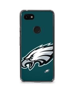 Philadelphia Eagles Large Logo Google Pixel 3a Clear Case