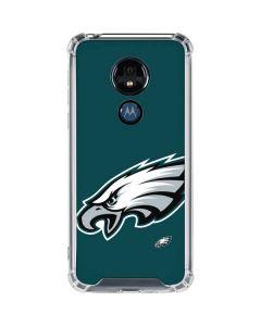 Philadelphia Eagles Large Logo Moto G7 Power Clear Case