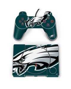 Philadelphia Eagles Large Logo PlayStation Classic Bundle Skin