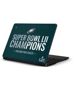 Philadelphia Eagles Super Bowl LII Champions Samsung Chromebook Skin