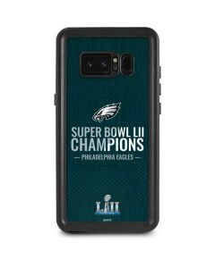 Philadelphia Eagles Super Bowl LII Champions Galaxy Note 8 Waterproof Case