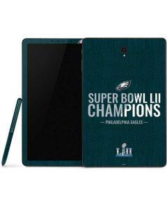 Philadelphia Eagles Super Bowl LII Champions Samsung Galaxy Tab Skin
