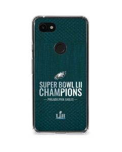 Philadelphia Eagles Super Bowl LII Champions Google Pixel 3a Clear Case
