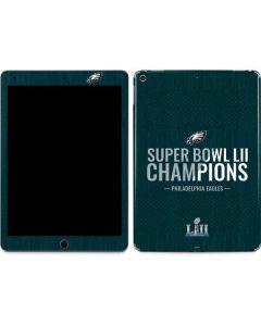 Philadelphia Eagles Super Bowl LII Champions Apple iPad Air Skin