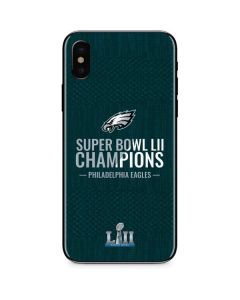 Philadelphia Eagles Super Bowl LII Champions iPhone XS Max Skin