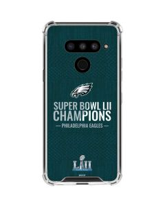 Philadelphia Eagles Super Bowl LII Champions LG V50 ThinQ Clear Case
