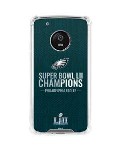 Philadelphia Eagles Super Bowl LII Champions Moto G5 Plus Clear Case