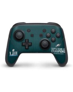 Philadelphia Eagles Super Bowl LII Champions Nintendo Switch Pro Controller Skin