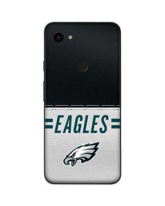 Philadelphia Eagles White Striped Google Pixel 3a Skin