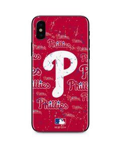 Philadelphia Phillies - Cap Logo Blast iPhone X Skin