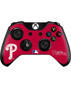 Philadelphia Phillies - Solid Distressed Xbox One Controller Skin