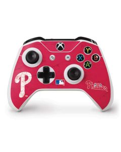 Philadelphia Phillies - Solid Distressed Xbox One S Controller Skin