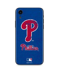 Philadelphia Phillies- Alternate Solid Distressed iPhone XR Skin